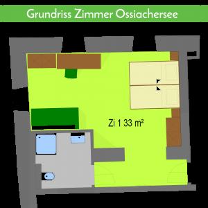 Grundriss Zimmer Ossiachersee Gasthaus Gatternig